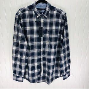 Tommy Hilfiger Classic Fit Blue White Shirt SizeM